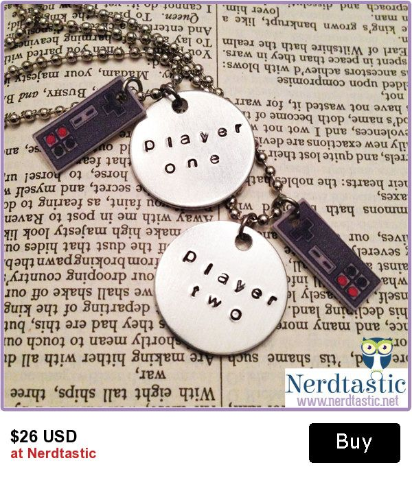 Nerdy Video Game Best Friend Necklaces