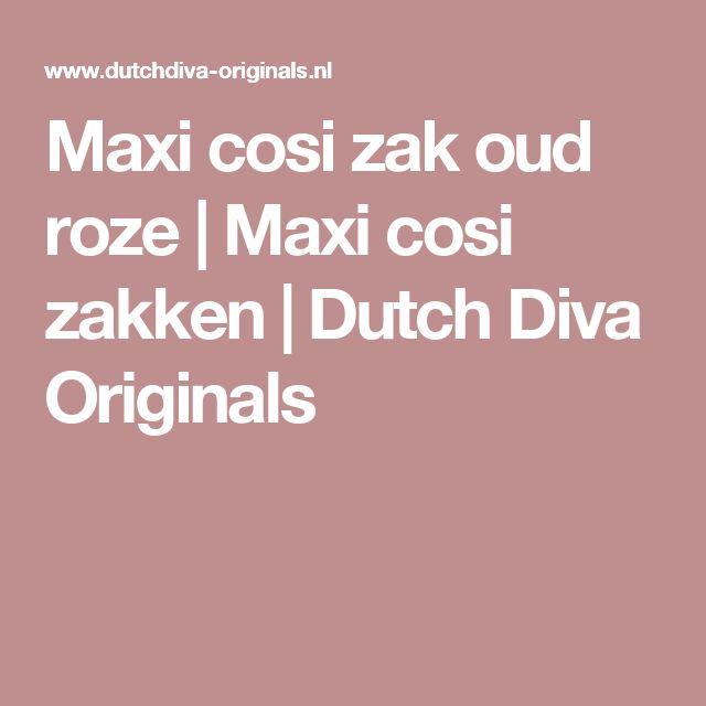 Maxi cosi zak oud roze | Maxi cosi zakken | Dutch Diva Originals