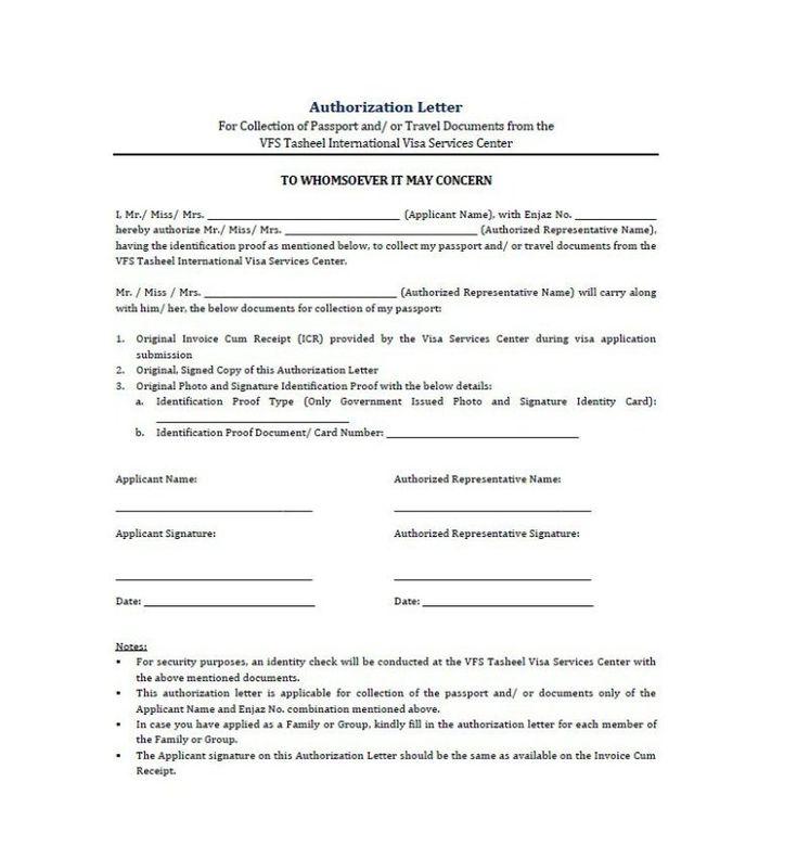 Authorization Letter Samples Letter Sample Lettering