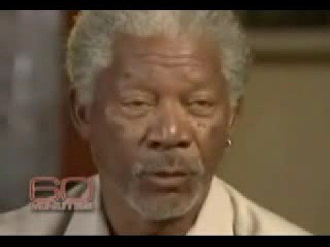 "i love morgan freeman...he's right. ""how do we get rid of racism??""...""stop talking about it."""