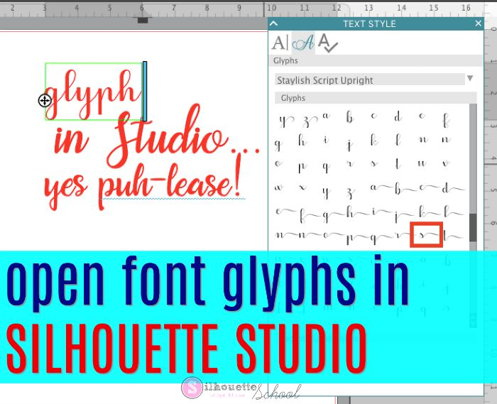 New Font Glyphs Tool Coming in SIlhouette Studio V4.1 | Silhouette School | Bloglovin'