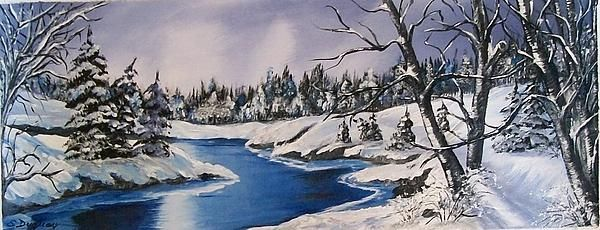 Fantabulous details and technique in this winter scene. The viewer is placed right there feeling the cold and soaking in the amazing light. Great choice to use a wide format.  +Sharon Duguay