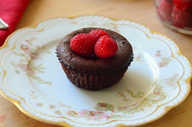 Molten Chocolate Cakes with Sugared Raspberries | Recipe ...