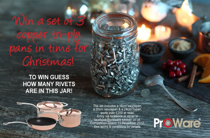 ProWare rivet competition now closed, Christmas 2012