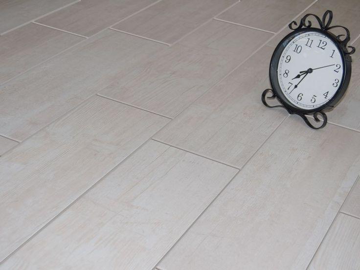 Lime Wash Wood Floor Tile   CTM 52.5 cm x 17.3 cm R 120 sqm