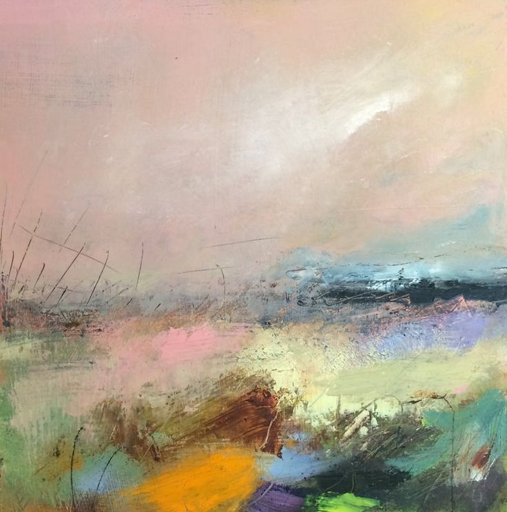 "Oils on Board - small abstract landscapes inspired by the light and movement around Yorkshire, UK - ©Lesley Birch 2017 ""I'm always painting, so if you are a gallery interested in my work, please do..."