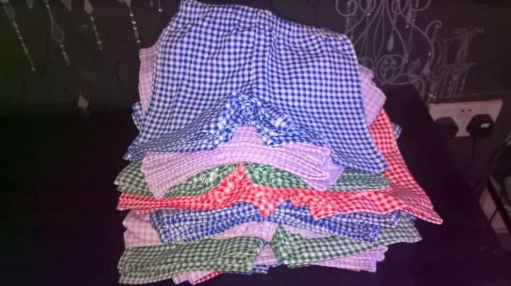 "summer school shorts ""STRETCH"" gingham boxer pants dress S,M,L  modesty uniform"