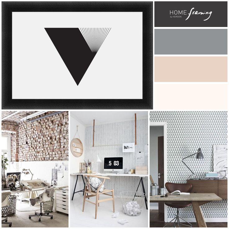 Aporta dinamismo y personalidad a tu oficina con ayuda de las texturas. Moldura rústica color negro by Molduras Hergon (ref. 529-51B)