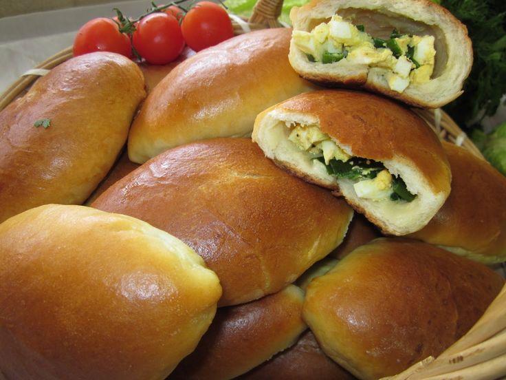 Рецепт - Пирожки с яйцом и зелёным лучком