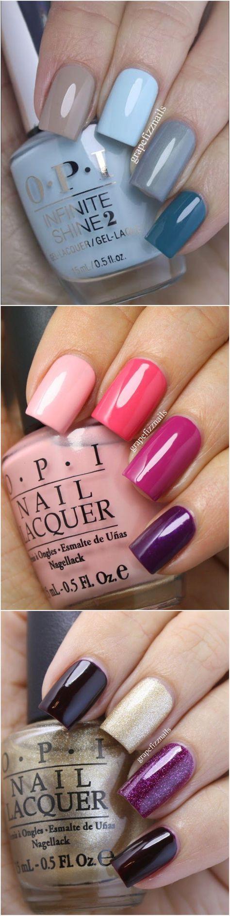 OPI nail swatches @grapefizznails