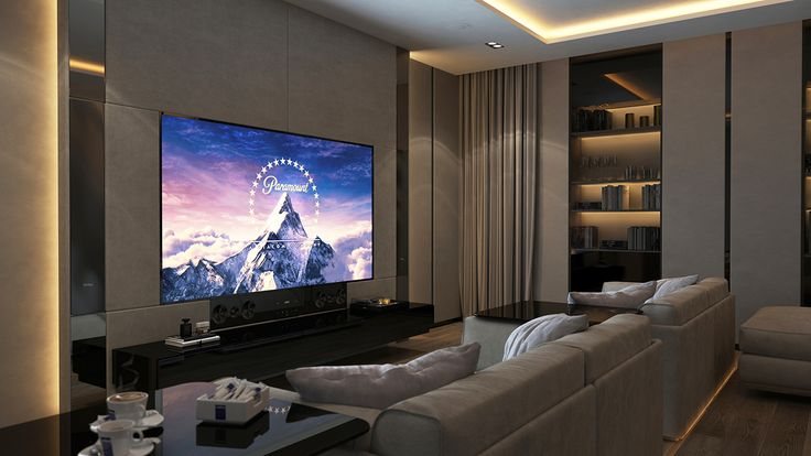 Cinema room on Behance