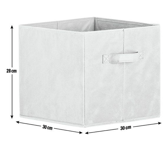 Buy HOME Phoenix Canvas Box - Grey at Argos.co.uk - Your Online Shop for Storage chests and toy boxes, Storage, Home and garden.