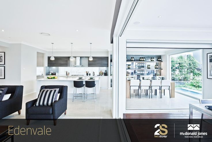 Wouldn't you just love to entertain family and friends in this stunning kitchen/dining area! Discover the Edenvale for yourself at our Gregory Hills display centre. #displayhome #edenvale #mcdonaldjones #newhomes #kitchen #dining #entertaining #gourmetkitchens