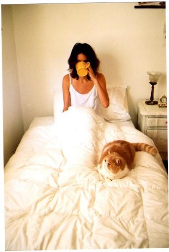 tea + a cat = saturday morning