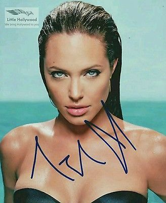 ANGELINA-JOLIE-very-sexy-8x10-Autographed-RP-lustre-Photo