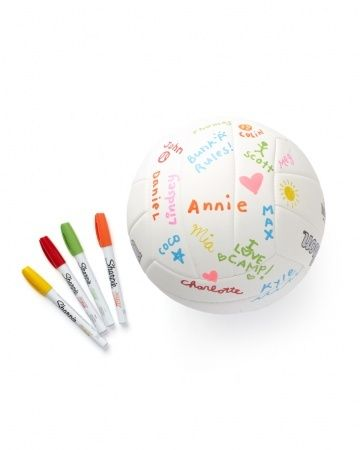 Keepsake Volleyball - Great camp care package gift.