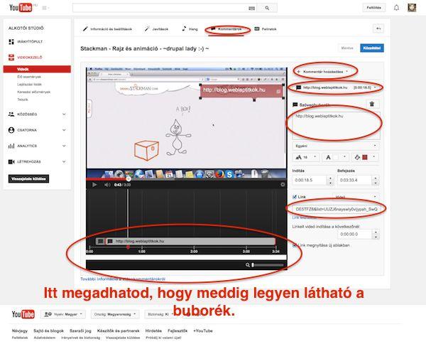 Youtube link videóra