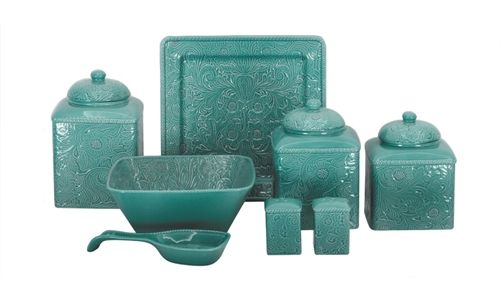 san angelo leopard savannah canister set by hiend accents teal kitchen canisters kitchens pinterest