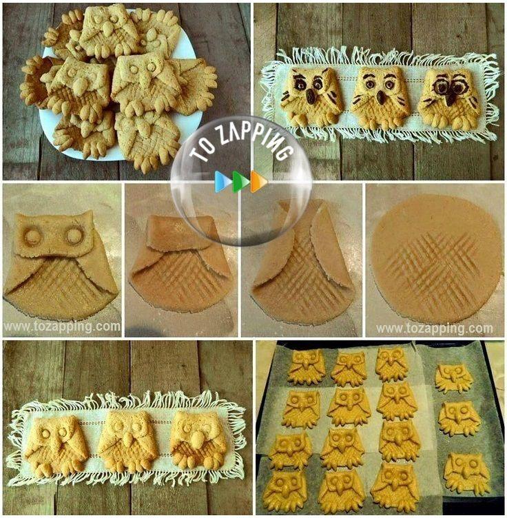 Galletas caseras con forma de búho. Hoy os presentamos esta original galleta en forma de búho, esta receta es ideal para la gente creativa y con ganas de