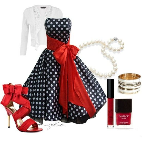 50s Style Dress - Click image to find more Women's Fashion Pinterest pins