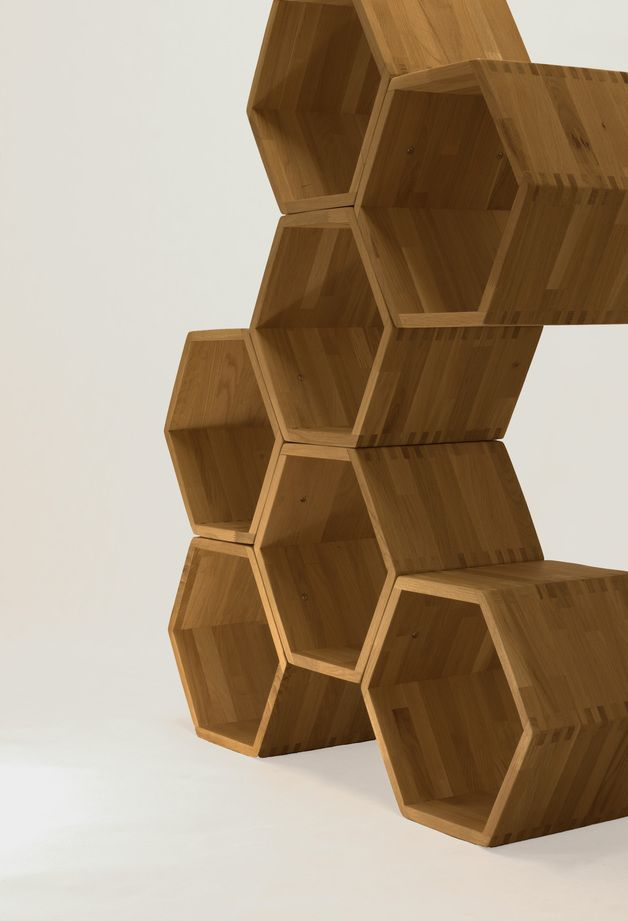 Wandregale - Bücherregal Honig und Blümchen - ein Designerstück von Divadlo-furnishings bei DaWanda