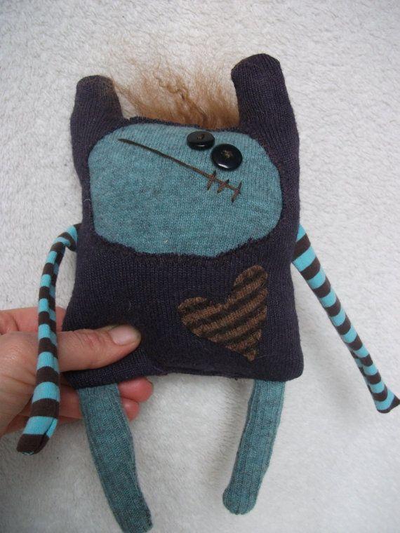 Lovable Monster Softie Meeks by mycheekylilmonkeys on Etsy, $30.95