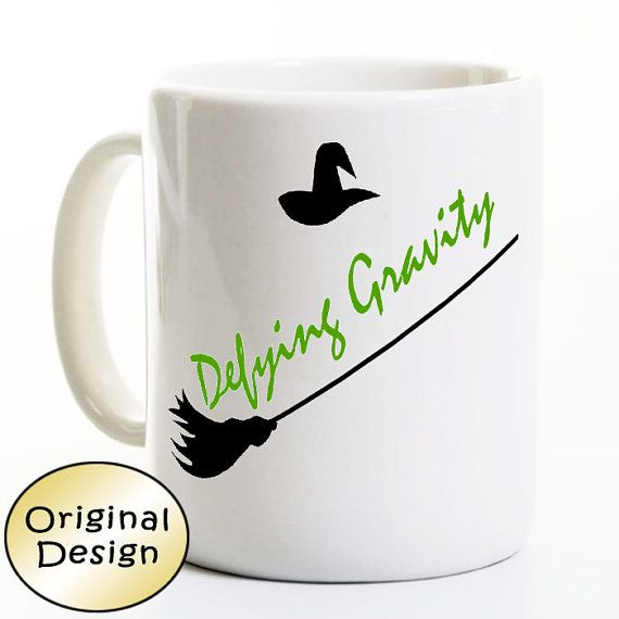 Hey, I found this really awesome Etsy listing at https://www.etsy.com/listing/262042745/wicked-mug-defying-gravity-show-coffee