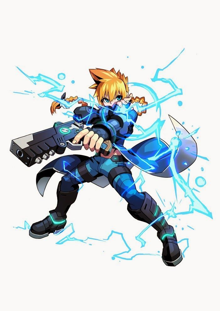 Conheça os heróis e vilões de Azure Striker Gunvolt