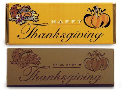 Happy Thanksgiving Chocolate Wrapper Bar