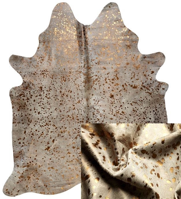 Leather Products - Bronze Metallic Cowhide rug, Leather Suppliers, Australia, NSW Leather