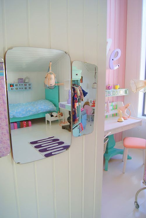 Bright Pastel Little Girls Room in Norwegian Style from Theas Mania