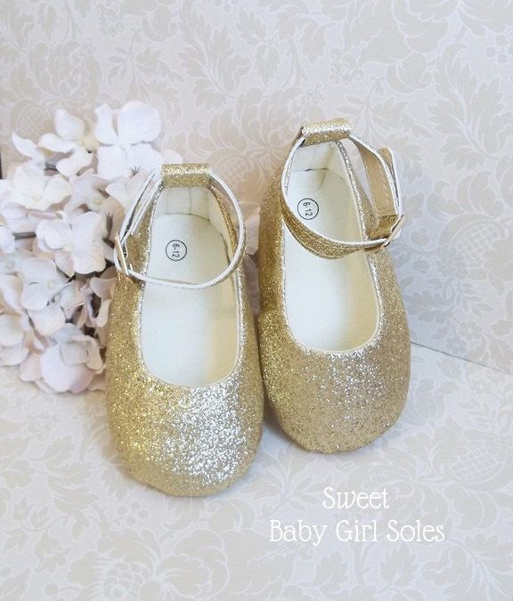 Gold Baby Shoes, Pink and Gold First Birthday Outfit, Gold Glitter Shoes, Gold Toddler Shoes, 1st Birthday Girl Outfit, Baby Girl Gold Shoes by SweetBabyGirlSoles on Etsy https://www.etsy.com/listing/485776760/gold-baby-shoes-pink-and-gold-first