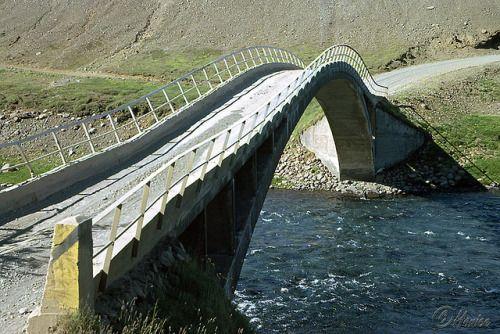 Fnjóskárbrú in 1962 This beautiful bridge still stands. It bridges the Fnjóská…