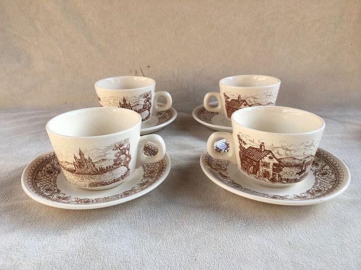 Coffee Cups & Saucers Lot Set Of 4 Lozapenco Chile