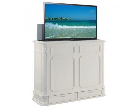 crystal pointe xl white tv lift cabinet