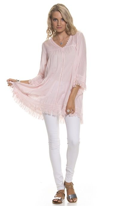 Holiday Clothing Mosi Cotton Top In Blush
