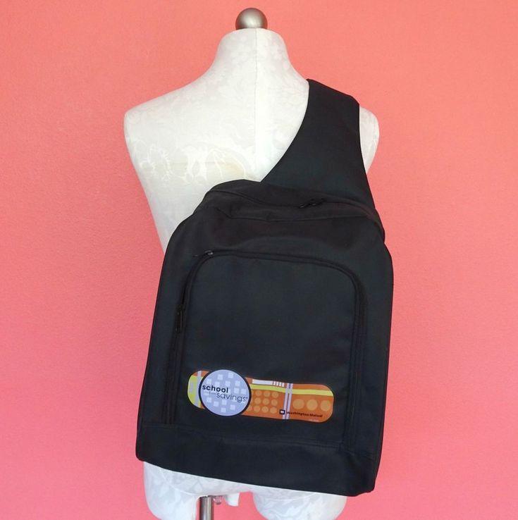 Washington Mutual Bank Black Nylon Shoulder Messenger Bag Sling Backpack Urban #WashingtonMutualBank #MessengerShoulderBag