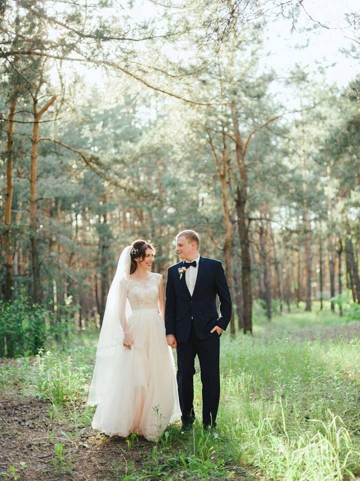Свадебное платье, невеста, персиковое платье,wedding, bride, wedding dress