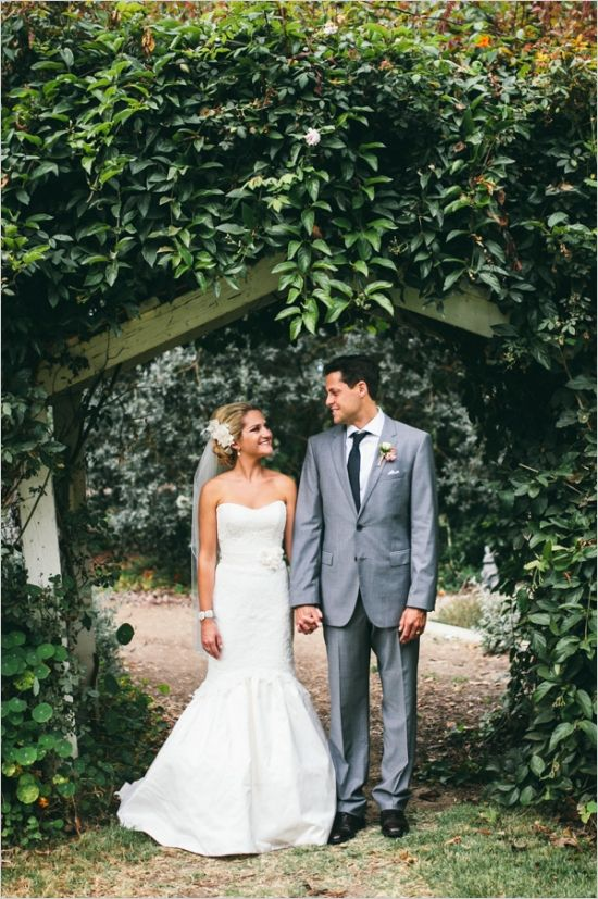 sweethear and mermaid style wedding gown captured by leo evidente photography #weddinggown #brideandgroom #weddingchicks http://www.weddingchicks.com/2014/02/05/california-rustic-farm-wedding/