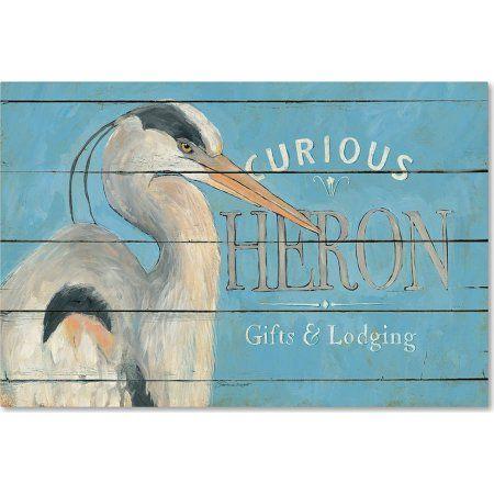 Trademark Fine Art Heron Blue Canvas Art by Stephanie Marrott, Blue