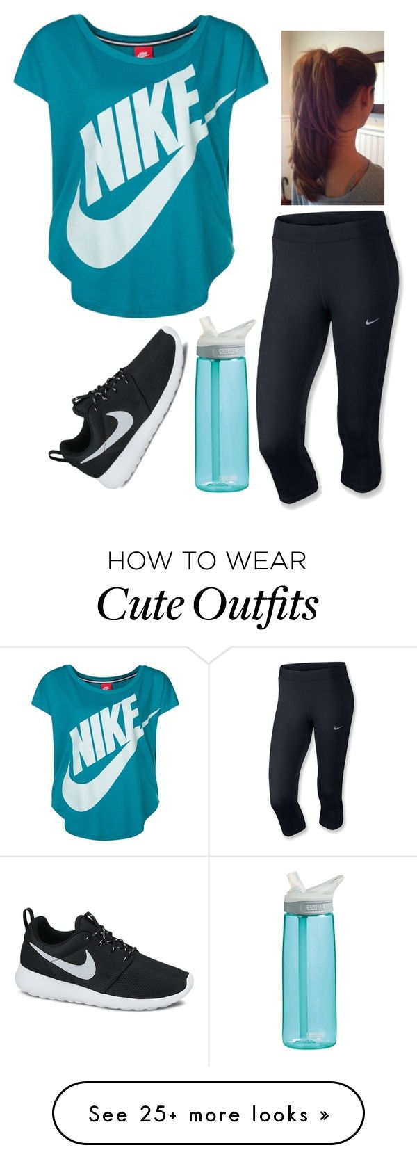 """Running Outfit"" by twaayy on Polyvore featuring NIKE and CamelBak"