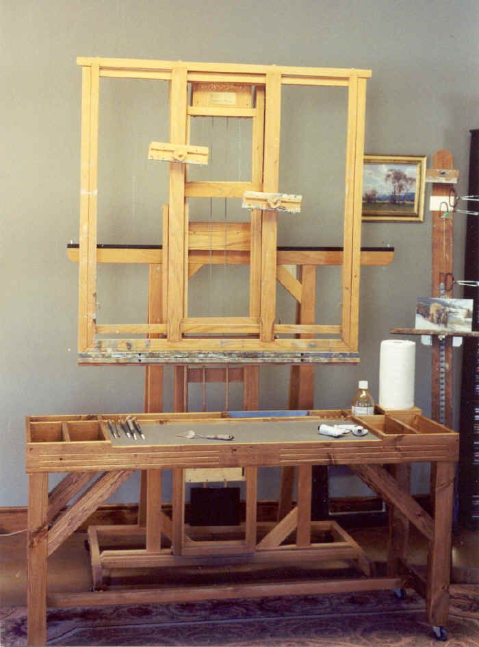 Standard Studio Taboret and Hughes 4000 Easel