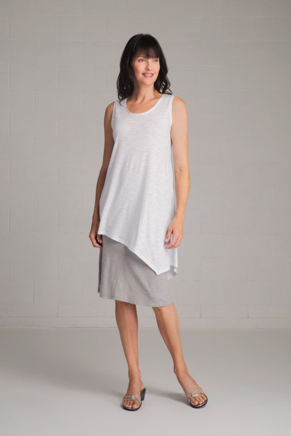 SALE! Click to shop the made in Vancouver, organic cotton/bamboo blend Mara Tank.