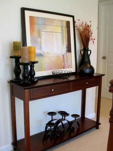 Entry way table ideas for the home pinterest entry Entry table design ideas
