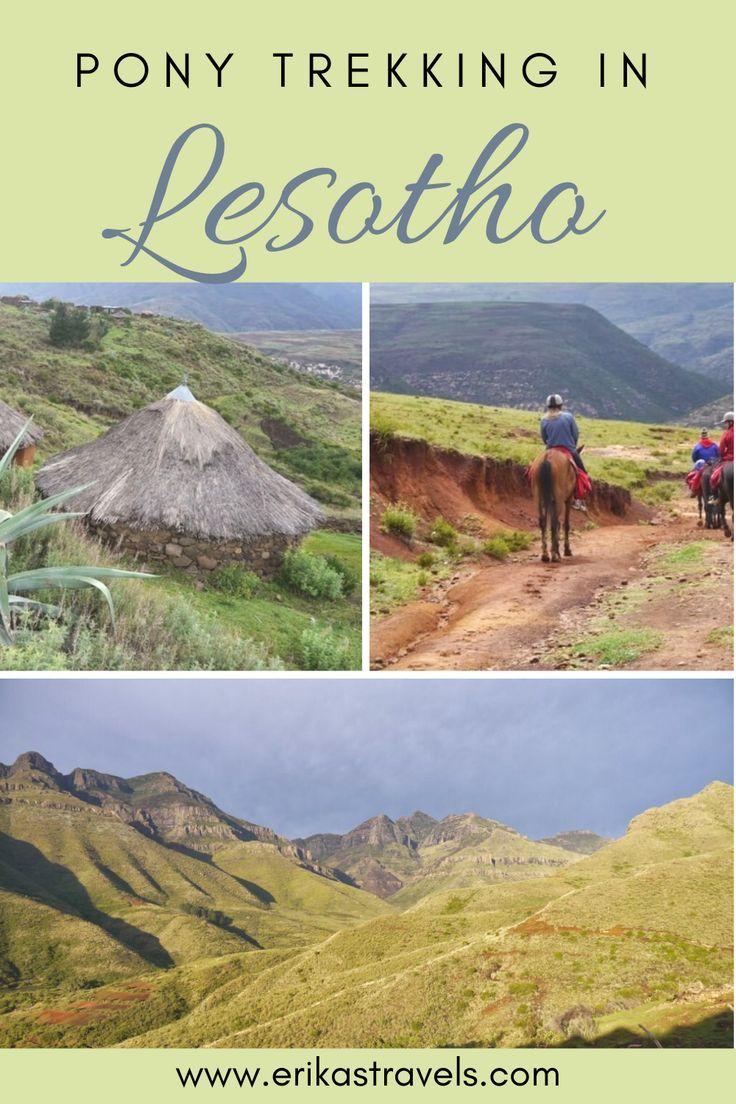 Pony Trekking In Lesotho Malealea To Ribaneng Village Erika S Travels Africa Travel Trekking Lesotho