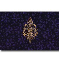 A luxurious card is made up of fabric silk sheet with prominent glossy finish, beautifully flowery design on the front and fine background effects adds an excellent touch. Contrastive inserts & envelope give extra appeal to the card. It can be customized as per your requirement.
