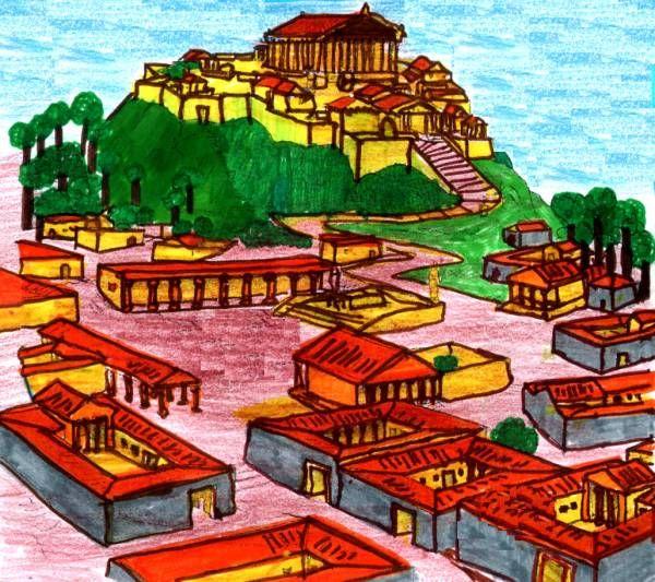 La Grecia era una terra molto aspra e aveva ripide montagne