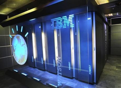 "A Jan. 13, 2011 file photo provided by IBM shows the IBM computer system known as Watson, at IBM's T.J. Watson research center in Yorktown Heights, N.Y. A partnership between IBM and seven of the country's top computer science universities, which was set to be announced Wednesday, May 7, 2014, will let students will use the ""Jeopardy!"" champion to develop new cognitive computing applications for a variety of industries ranging from health care to finance. (AP Photo/IBM)"