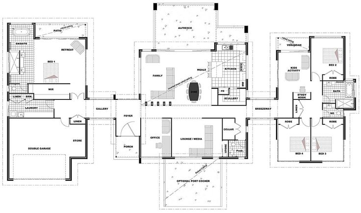 Hi! Here's another floor plan for you. This one would suit an acreage block. Click on the image to enlarge it so…