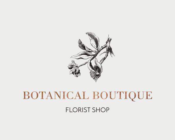 Vendita di Natale |  Logo Vintage Floral Design | Marchio floreale vittoriano | Business Logo Design | Logo Vintage | Logo di rame | Filigrana